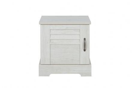 Thelma 1-Door Bedside Table White